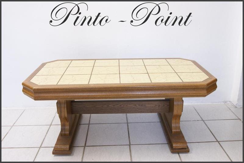Fliesentisch Wohnzimmertisch Couchtisch Kachel Tisch Holz Fliesen